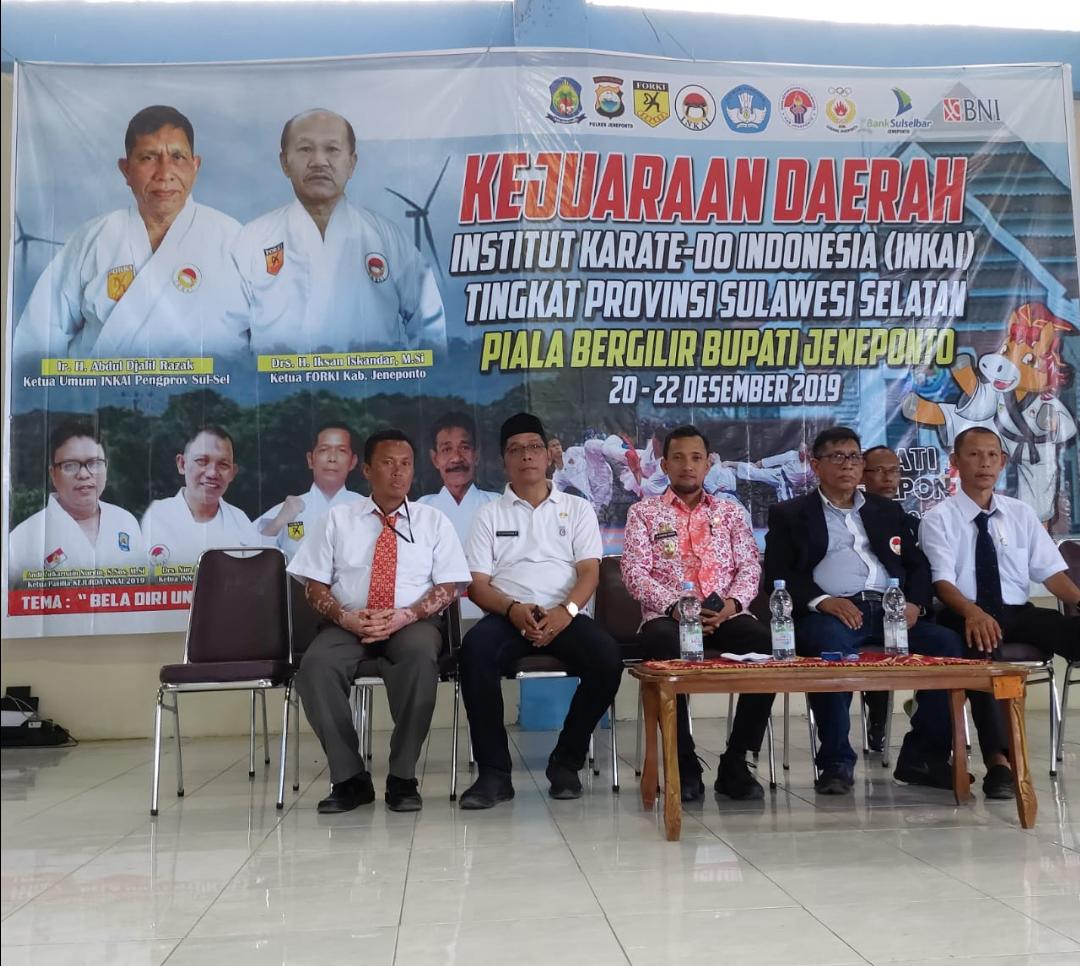 Pembukaan Kejurda INKAI Prov. Sul-Sel di GOR Pemuda Kab. Jeneponto, Jumat (20/12/2019)
