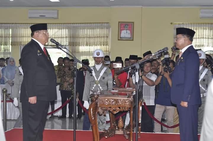 Pelantikan Sekretaris Daerah Kabupaten Jeneponto, Dr. dr. H.M. Syafruddin Nurdin, M.Kes. oleh Bupati Jeneponto (Senin, 19/11/2018 di Ruang Pola Kantor Bupati Jeneponto)